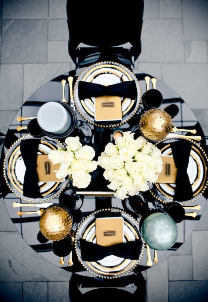 Inspiración en blanco y negro para tu boda - Foto Aruna B Photography
