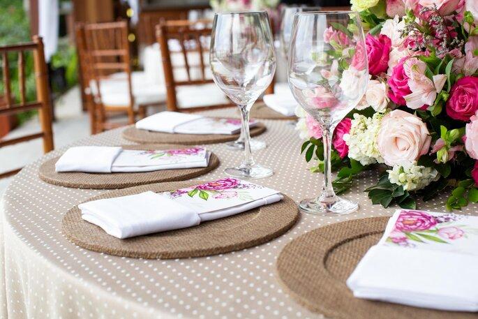Decoração mesa do casamento