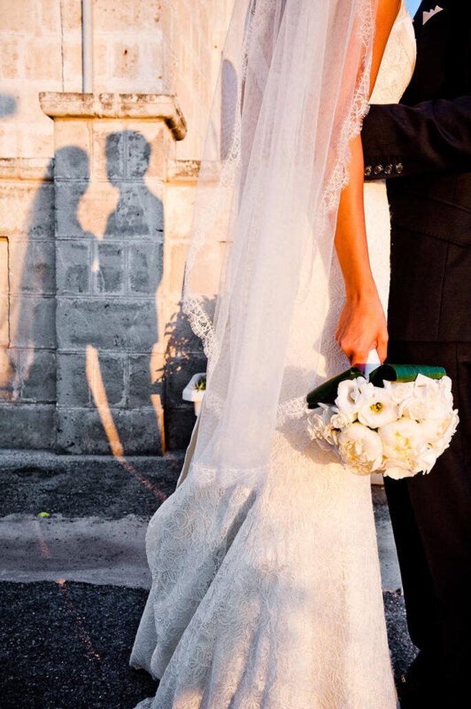 Nicola Centoducati - ombre coppia di sposi parete