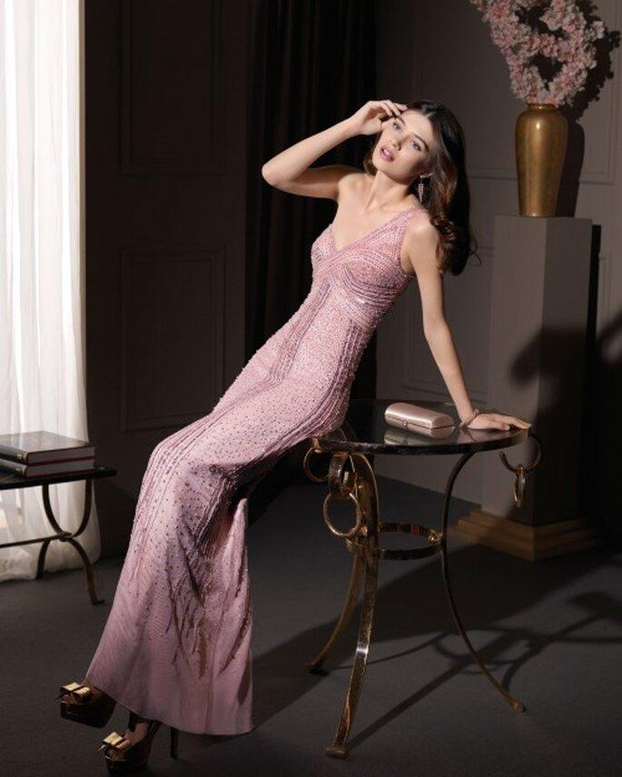 Vestido de fiesta 2014 en color rosa para invitadas o damas de boda - Foto Aire Barcelona