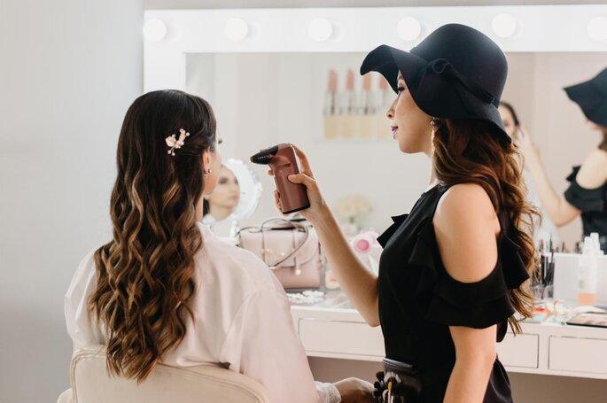 Maquillaje con aerógrafo para bodas