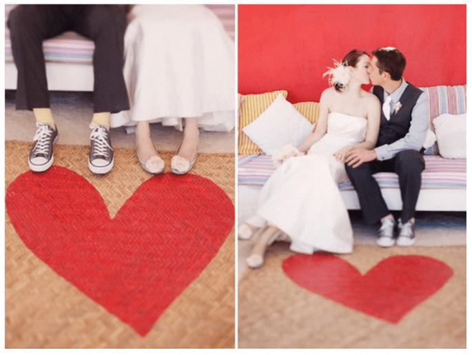 Una boda inspirada en San Valentín con muchos corazones - Foto Stephanie Williams
