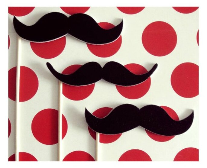 Bigotes en palito de Wedding Factory