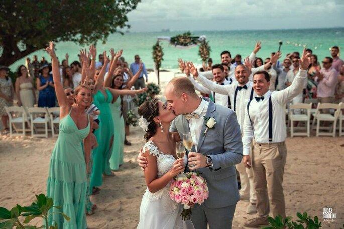 Cerimônia em um lugar paradisíaco com a Casando no Caribe