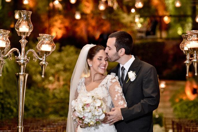 Casamento clássico com castiçais de vela