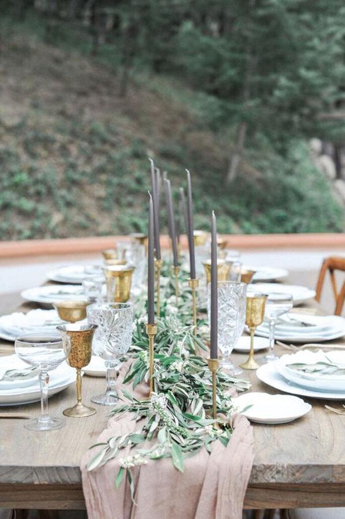 Rustikale Hochzeitsdekoration aus Holz