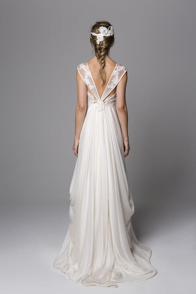 Vestido de noiva em musseline de seda