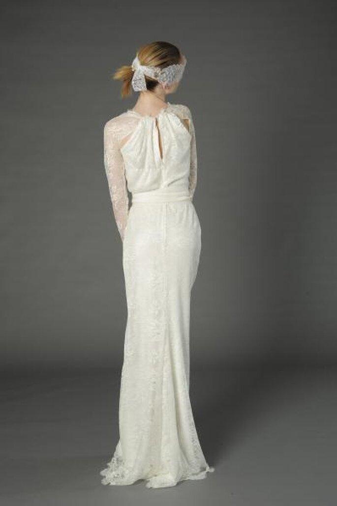 Vintage inspirierte Spitze Hochzeitskleid