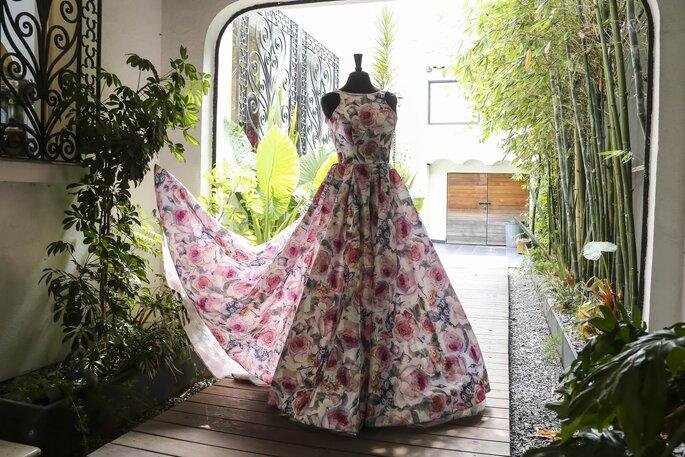 Invitadisima México vestido estampado largo