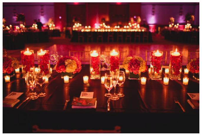Decoración de boda con velas - Foto Aga Images