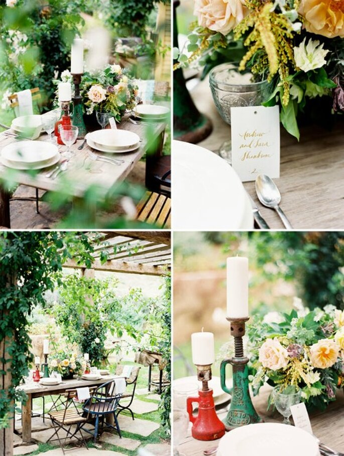 Flores por doquier en tu boda romántica - Fotos: Green Wedding Shoes