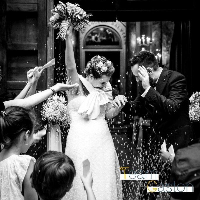 Gaston Studio - Wedding Photo - uscita dalla chiesa degli sposi
