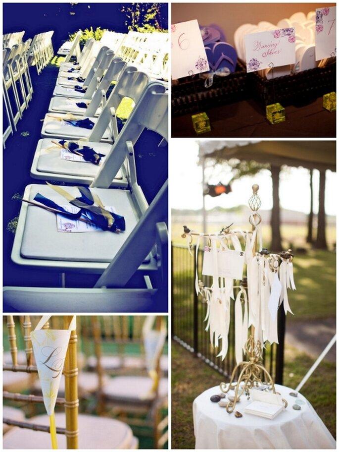Detalles decorativos en una boda
