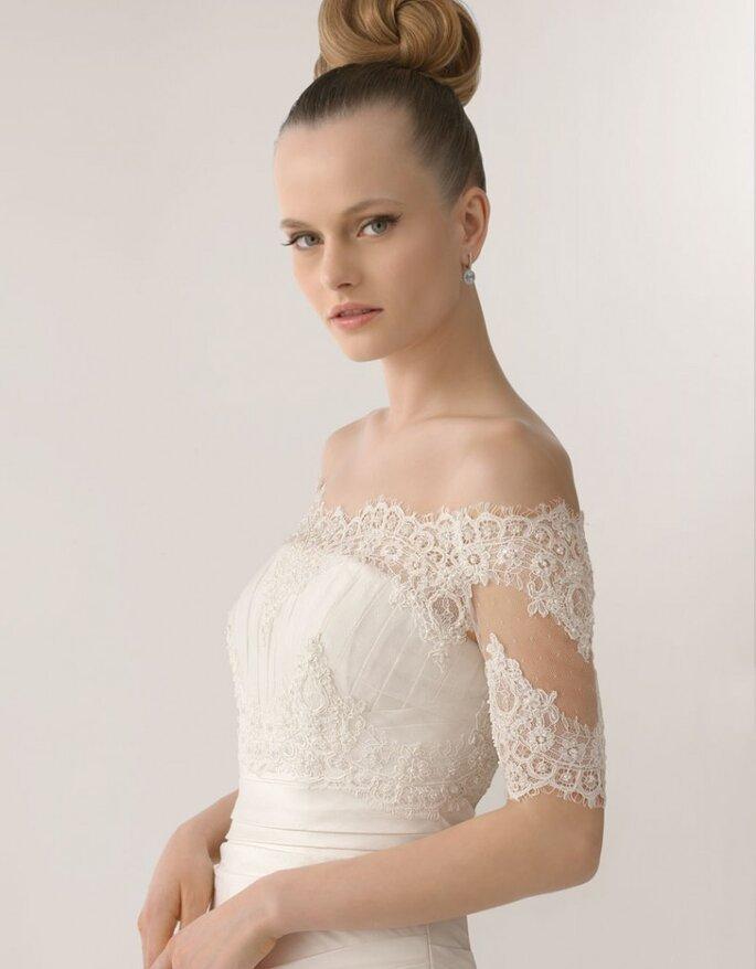 Vestido de novia Linda en seda natural, Rosa Clará