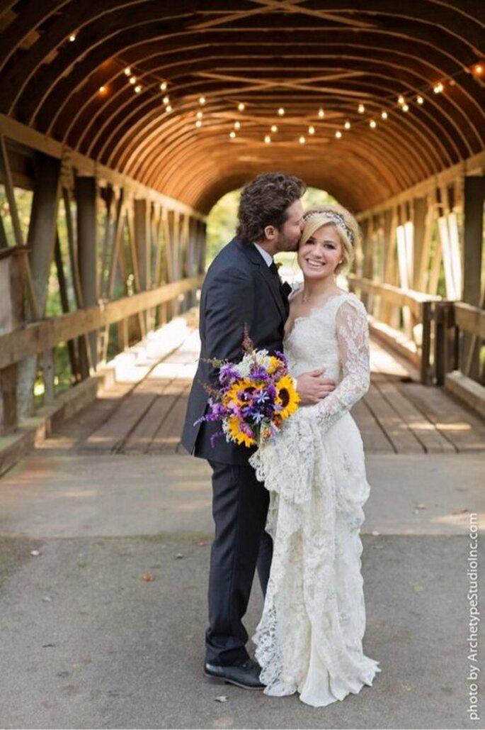 Kelly Clarkson se casó con Brandon Blackstock - Foto Kelly Clarkson Twitter
