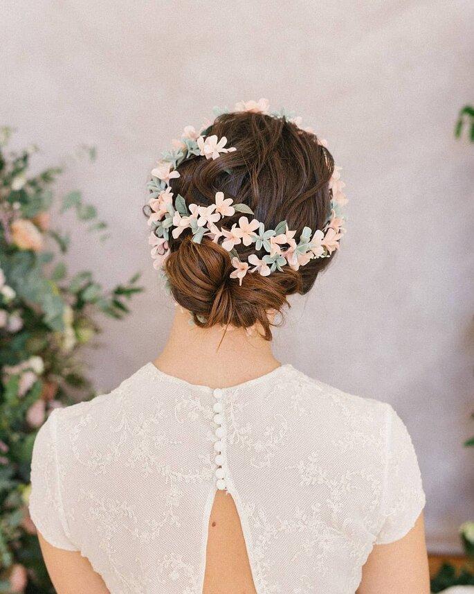 Couronne de fleurs mariage classique