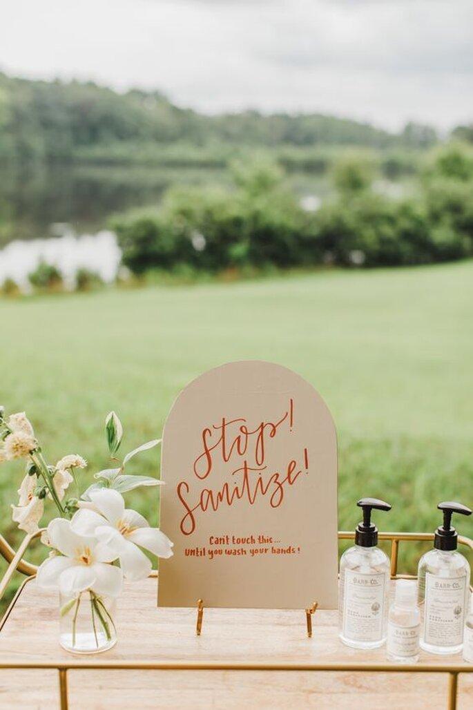 Corona Hochzeit, Ideen für Hyghienemaßnahmen
