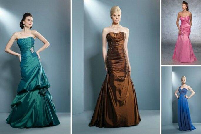 Il fascino dell'abito lungo (con colori strong!) per un ricevimento formale. Demetrios Collezione 2012
