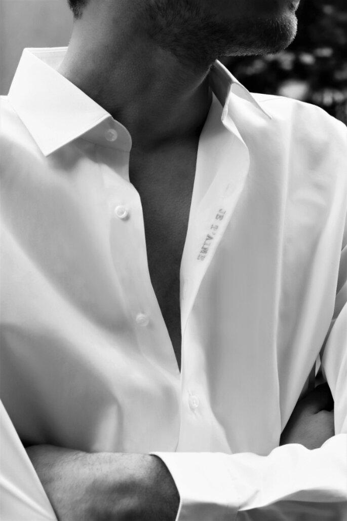 Chemise je t aime Figaret Paris pour futurs mariés