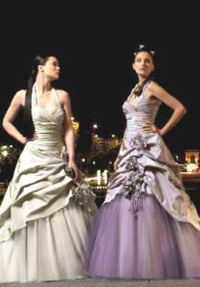 Miss Paris 2009 - Bassano - Robe longue à décolleté en V, jupe en tulle