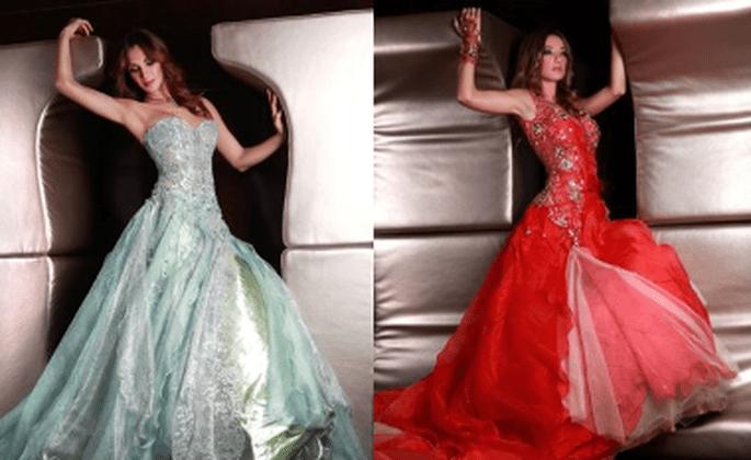 Vestidos de Noiva Vermelhos - Micaela Oliveira