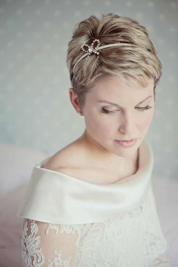El pixie, un estilo súper chic para novias - Claire Barrett