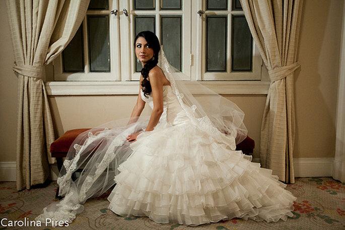Der Sissi-inspired Wedding Look bei Zankyou. Foto: Carolina Pires.