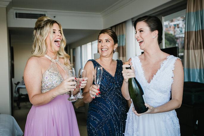 Making off noiva e madrinhas