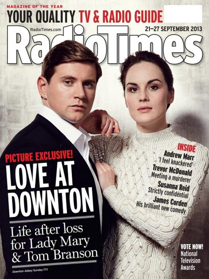 Michelle Dockery y Allen Leech en la portada de Radio Times Septiembre 2013