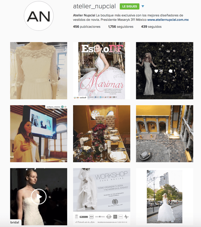 Atelier Nupcial Instagram