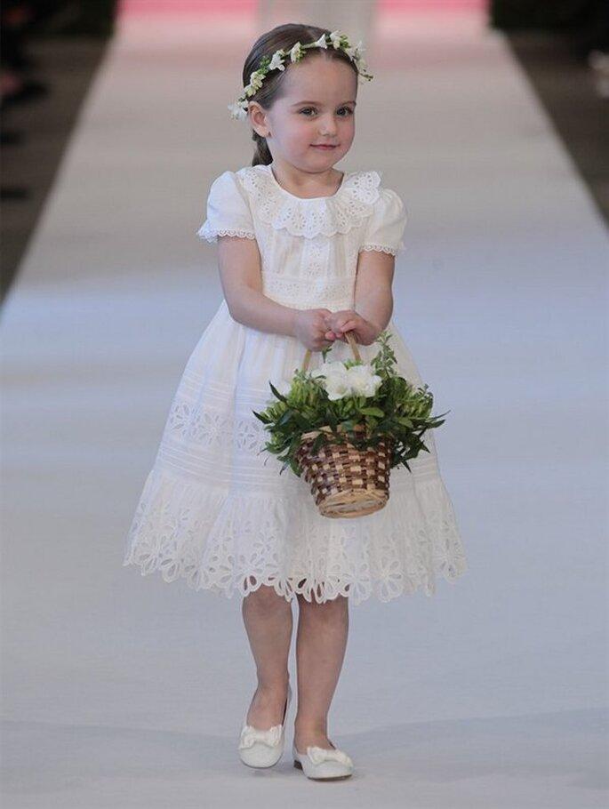 Vestido de pajecita de Oscar de la Renta - Colección Primavera 2015. Foto: www.oscardelarenta.com