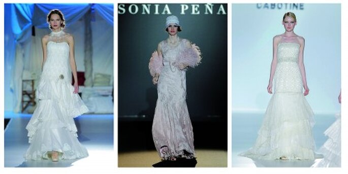 Vestidos de novia estilo años 20. Inmaculada Garcia, Sonia Peña, Collection Cabotine by Gema Nicolas; Barcelona Bridal Week, Fotos: Ugo Camera