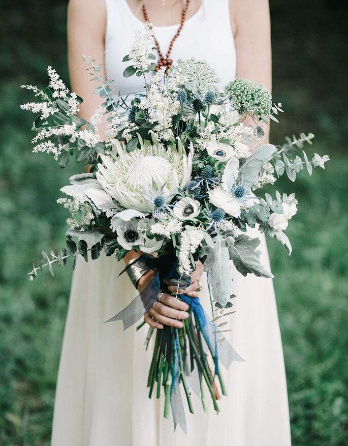 Ramos de noiva com caule comprido