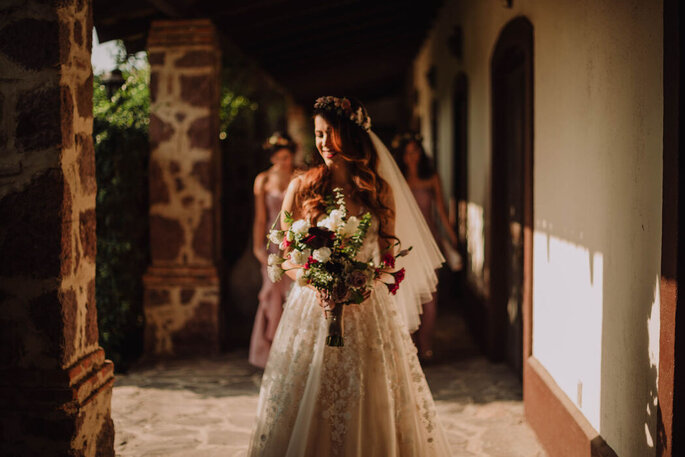 Sesión de fotos de novia