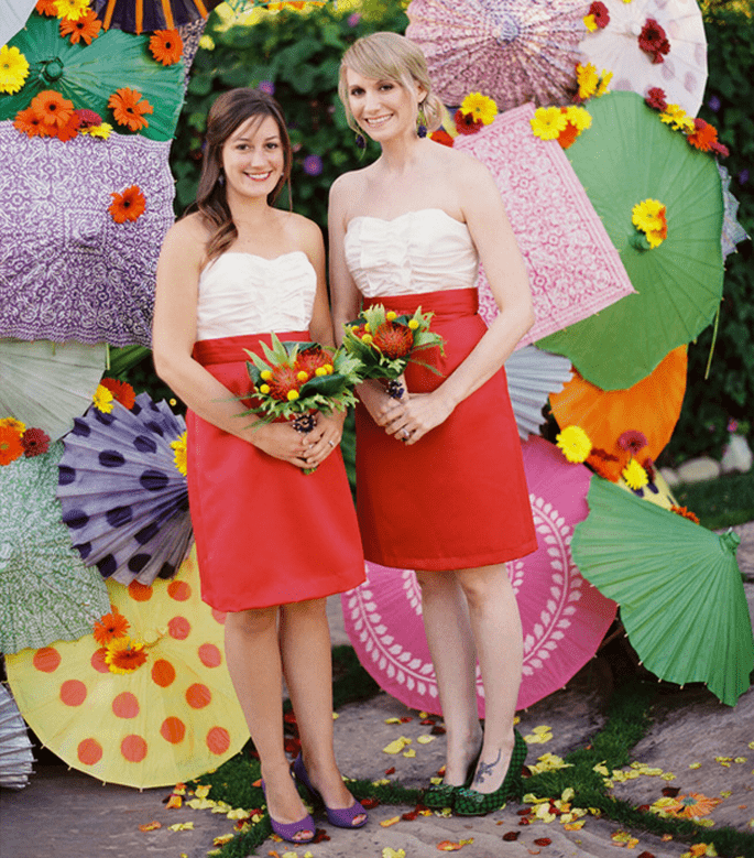 Vestidos para damas de boda en tendencia - Foto Linda Chaja