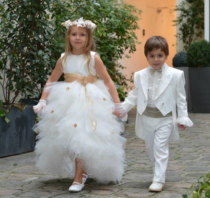 Avec Edelweiss Paris tout est possible pour habiller vos enfants d'honneur! Photo: Edelweiss Paris.