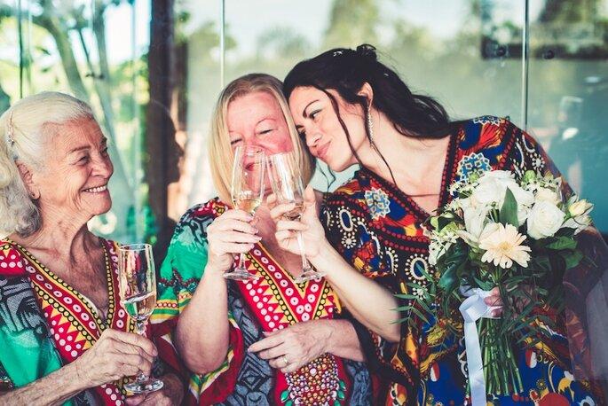 noiva, mãe e avó