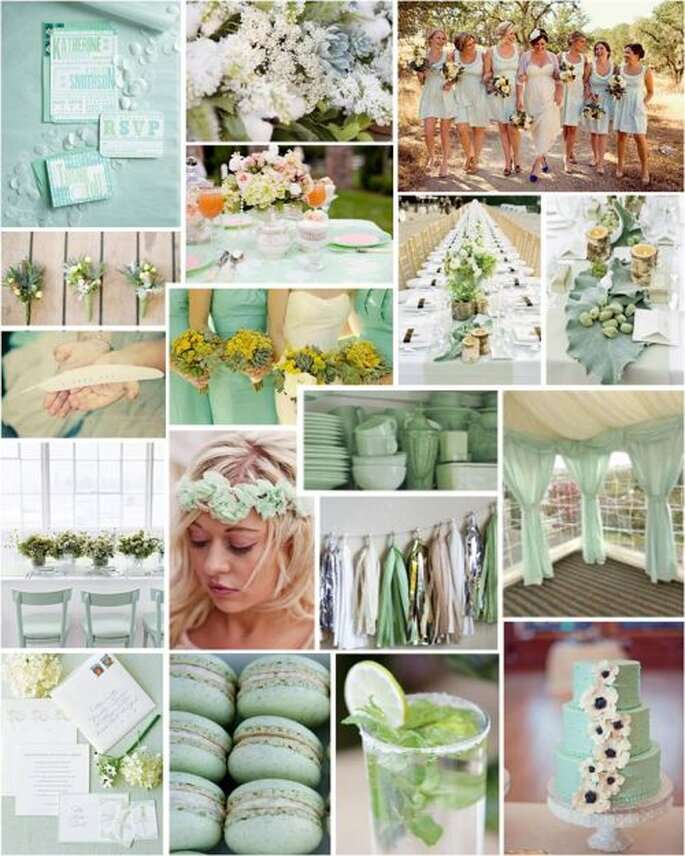 gray jade color scheme for wedding ideas