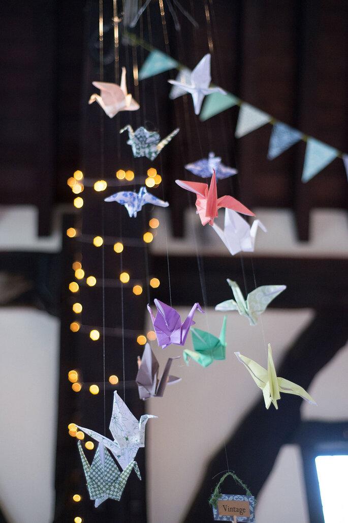 Tsurus origami para casamentos