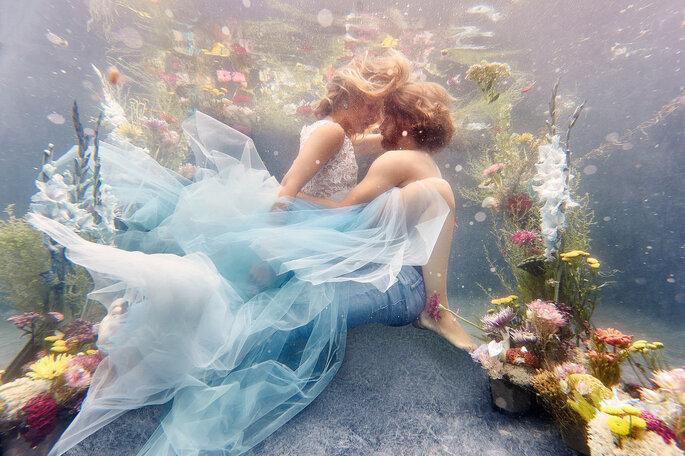 Under water Love Inspirationsshooting Hochzeit