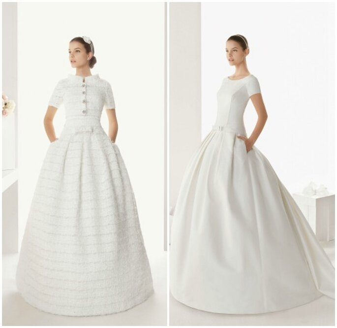Due abiti con manica corta di Rosa Clarà 2013. Fotowww.rosaclara.es