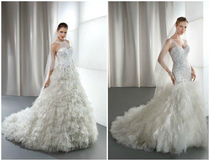 Per la sposa che vuole osare due gonne vaporose e romantiche! Demetrios 2013 Bridal Collection. Foto: www.demetriosbride.com