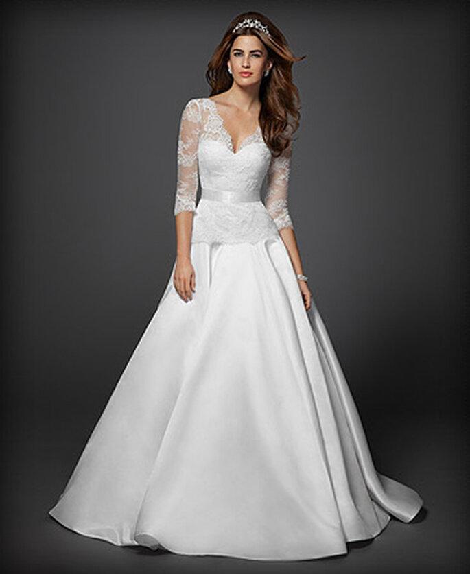 Vestido de novia con mangas largas de encaje - Foto: Colección Rami Kashou para Bebe