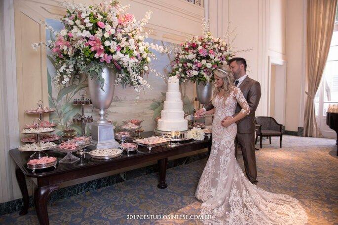 Mesa casamento refinado