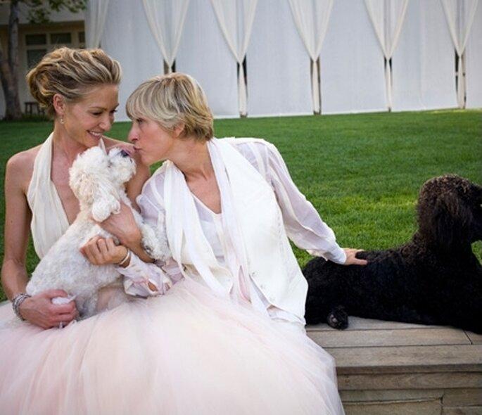 Ellen DeGeneres and Portia Di Rossi