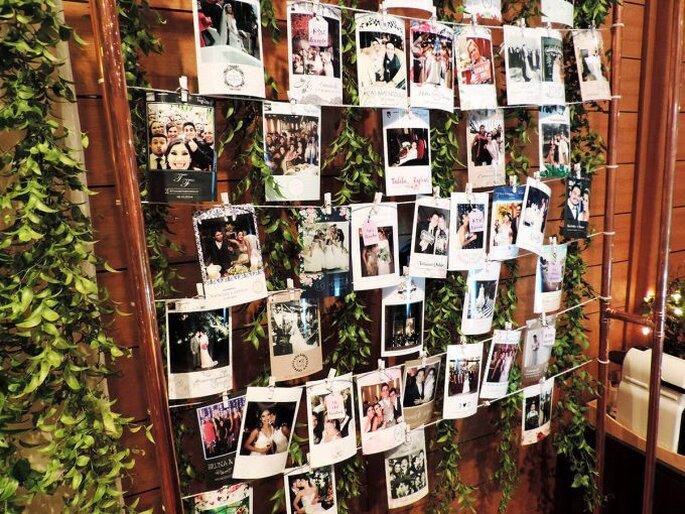 Mural de fotos em casamentos