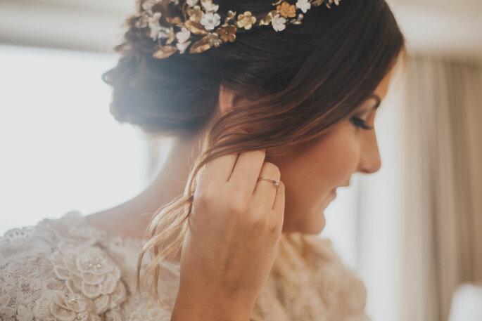 acessório de cabelo da noiva