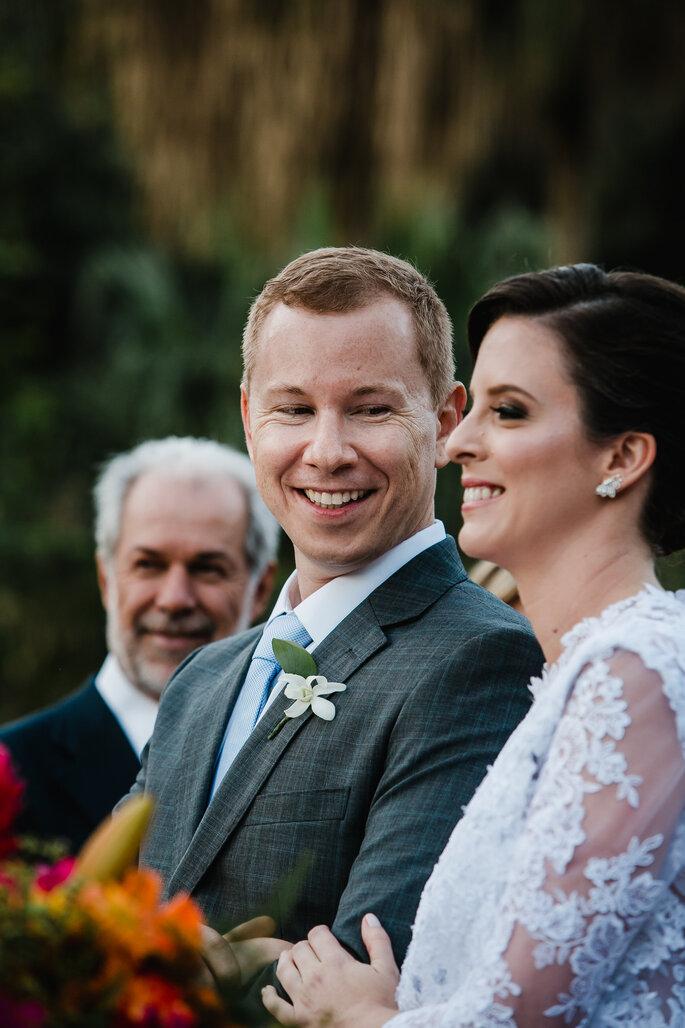 Terno risca de giz para noivo