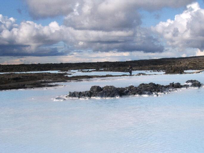 Die Blaue Lagune: Highlight der Flitterwochen auf Island. Foto: Hannelore Dittmar-Ilgen / pixelio.de