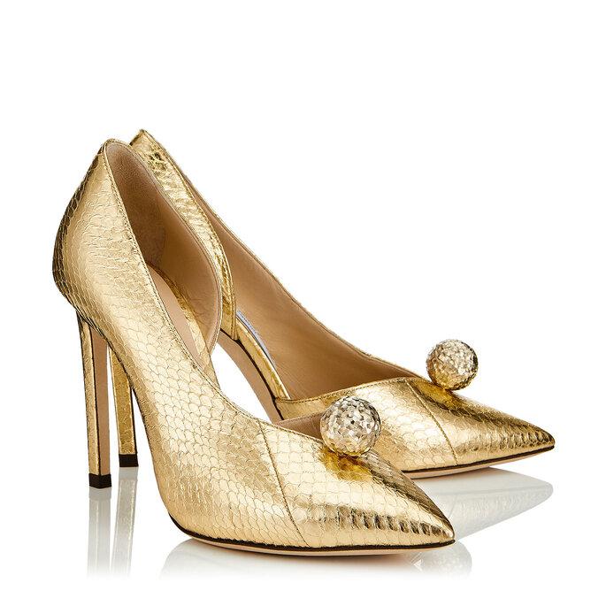 Chaussures de mariée dorées